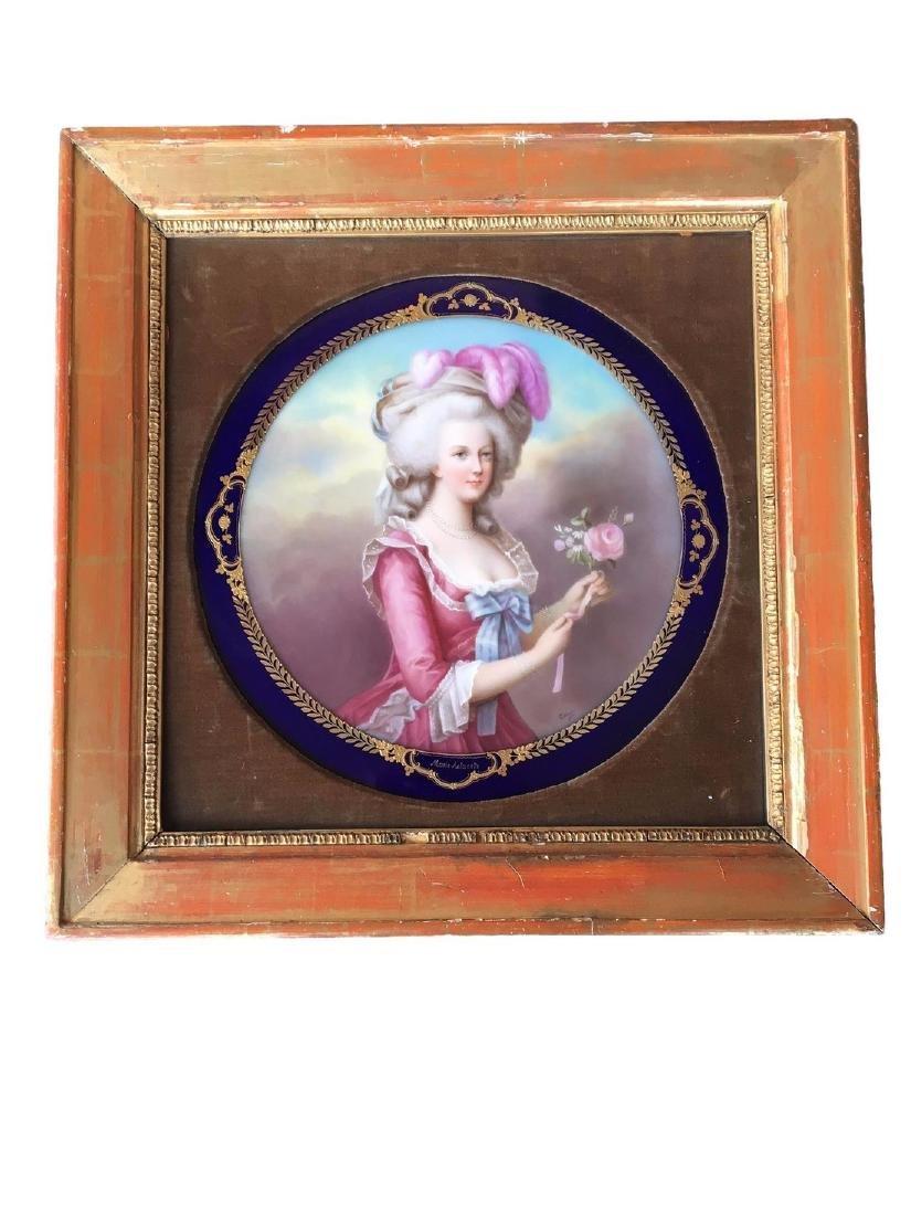 Antique Royal Vienna Porcelain Hand Painted Portrait