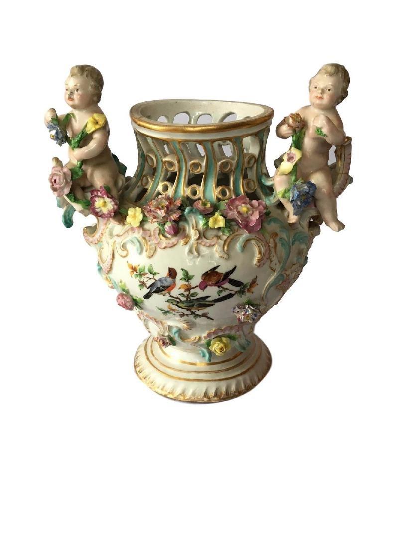 Antique Continental porcelain vase