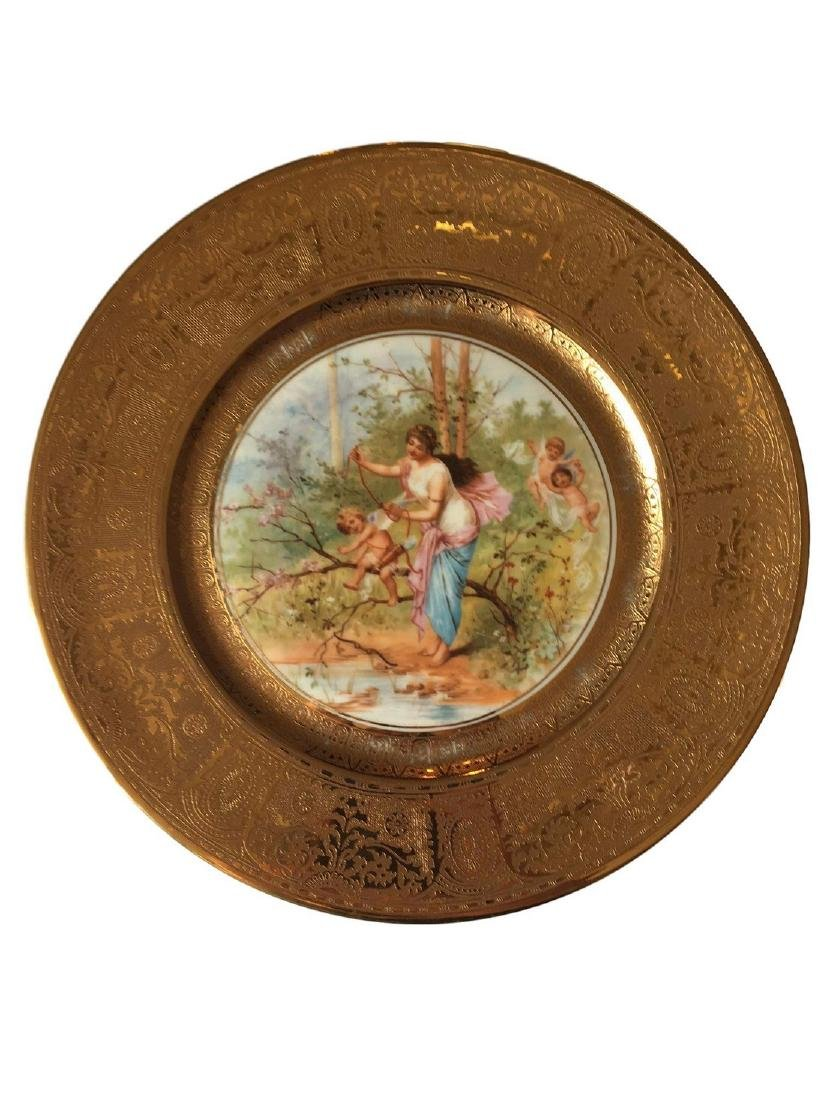 Royal Vienna Style Plate 22K gold