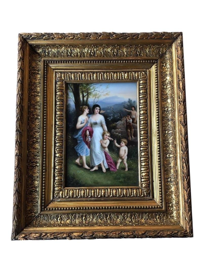 Beautiful Antique KPM Hand Painted Portrait Porcelain