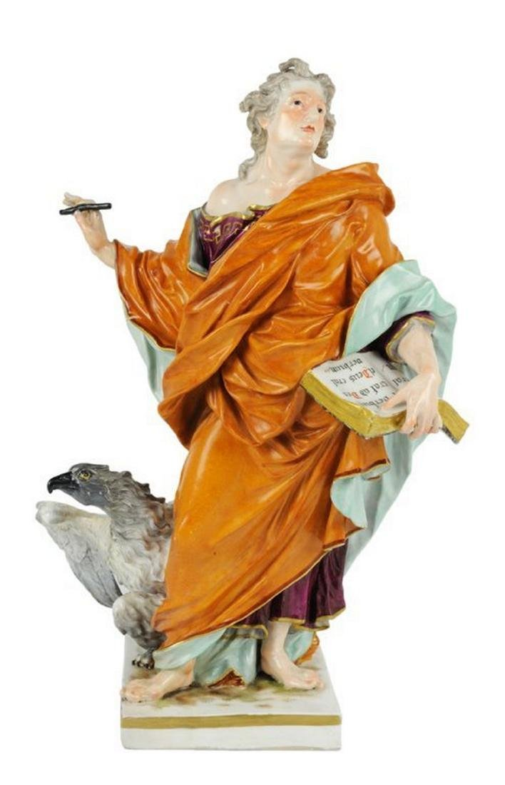 MEISSEN ALTAR FIGURE OF SAINT JOHN THE EVANGELIST
