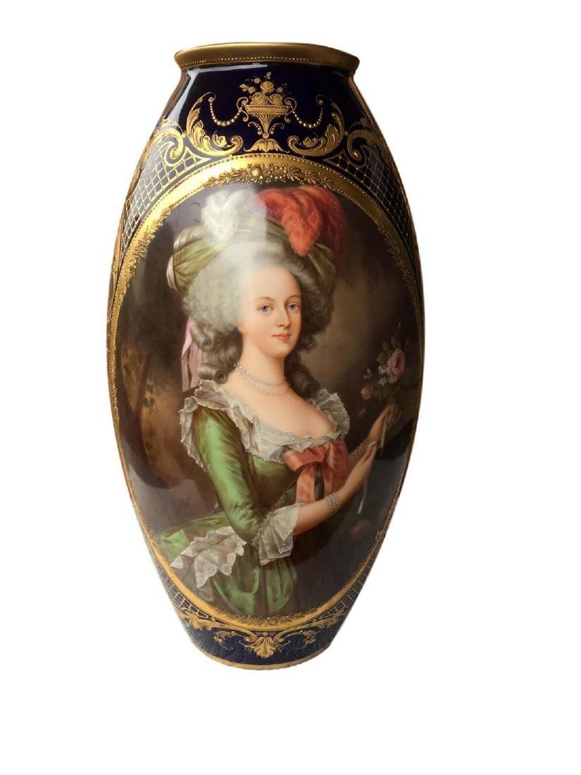 Exceptional Antique Royal Vienna Hand Painted Portrait