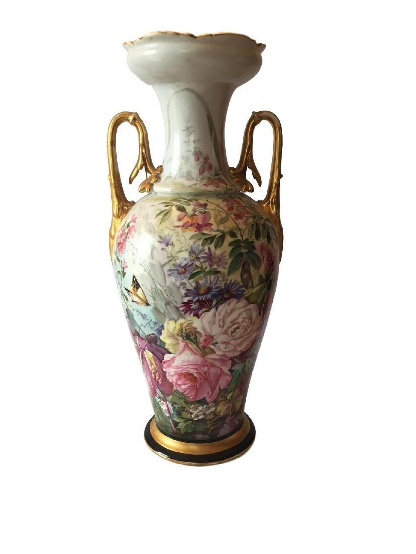 Antique Old Paris Porcelain Hand Painted Vase