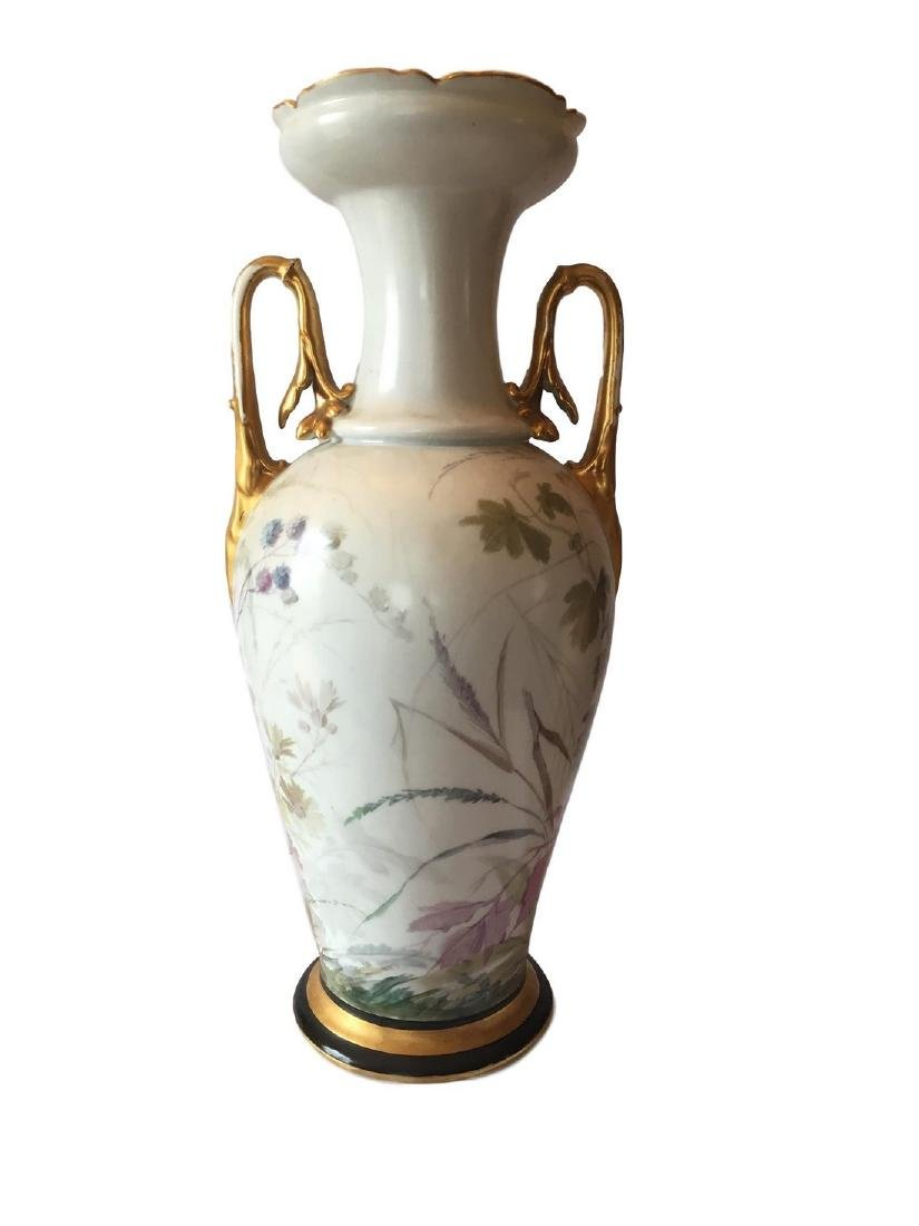 Antique Old Paris Porcelain Hand Painted Vase - 2