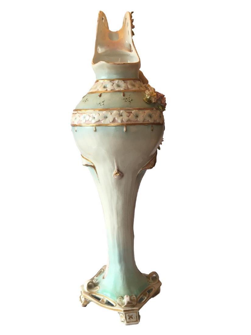 Antique monumental old paris porcelain ewer - 2