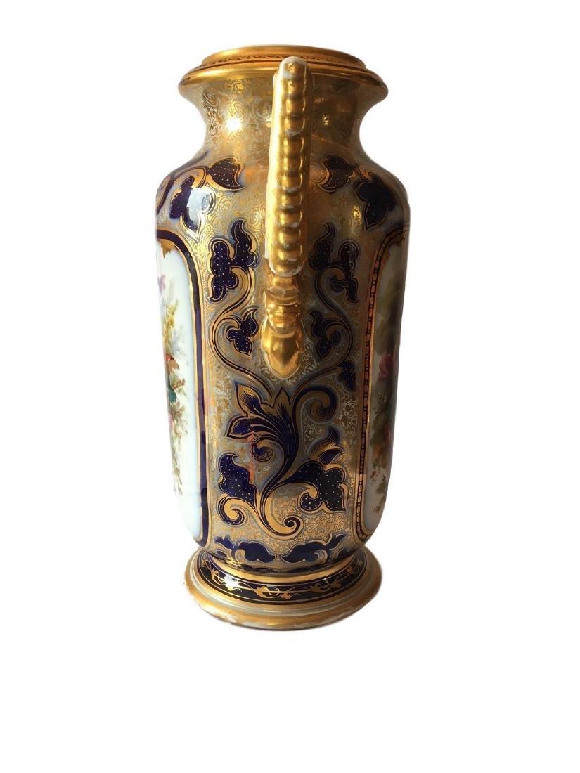 Large Old Paris Porcelain Portrait Vase - 2