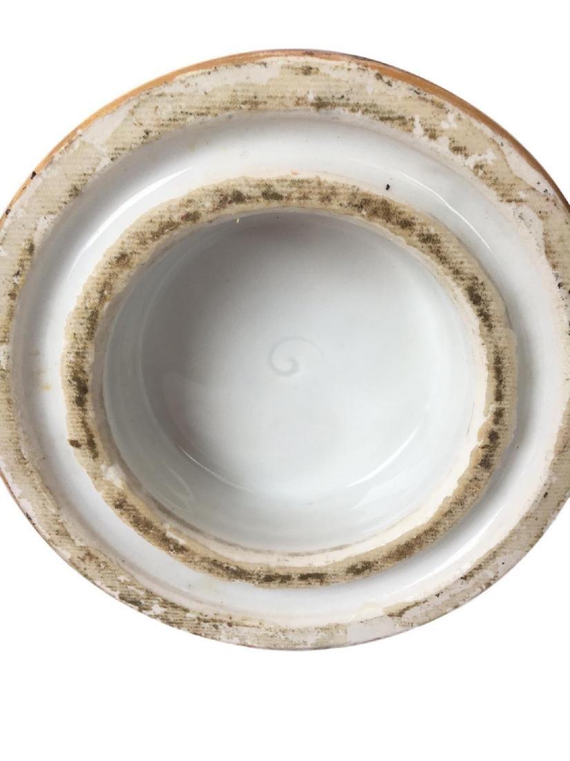 Large Old Paris Porcelain Portrait Vase - 4