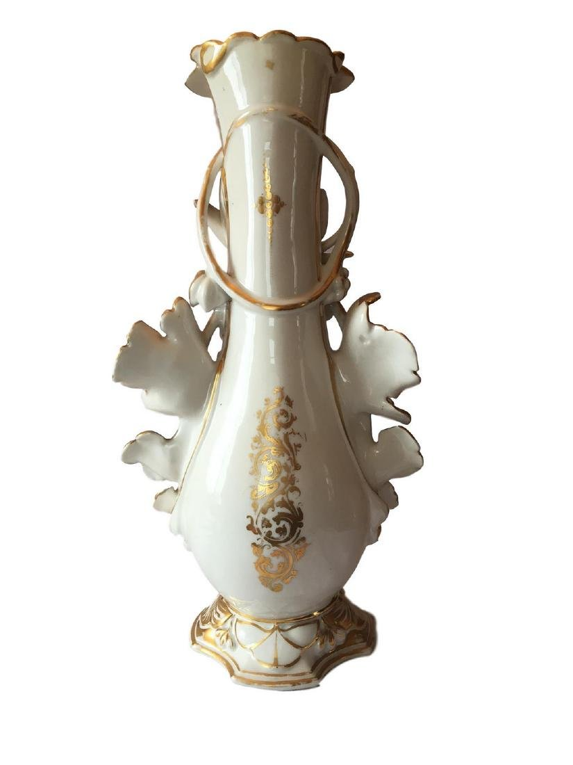 Large Old Paris Porcelain Floor Vase - 3