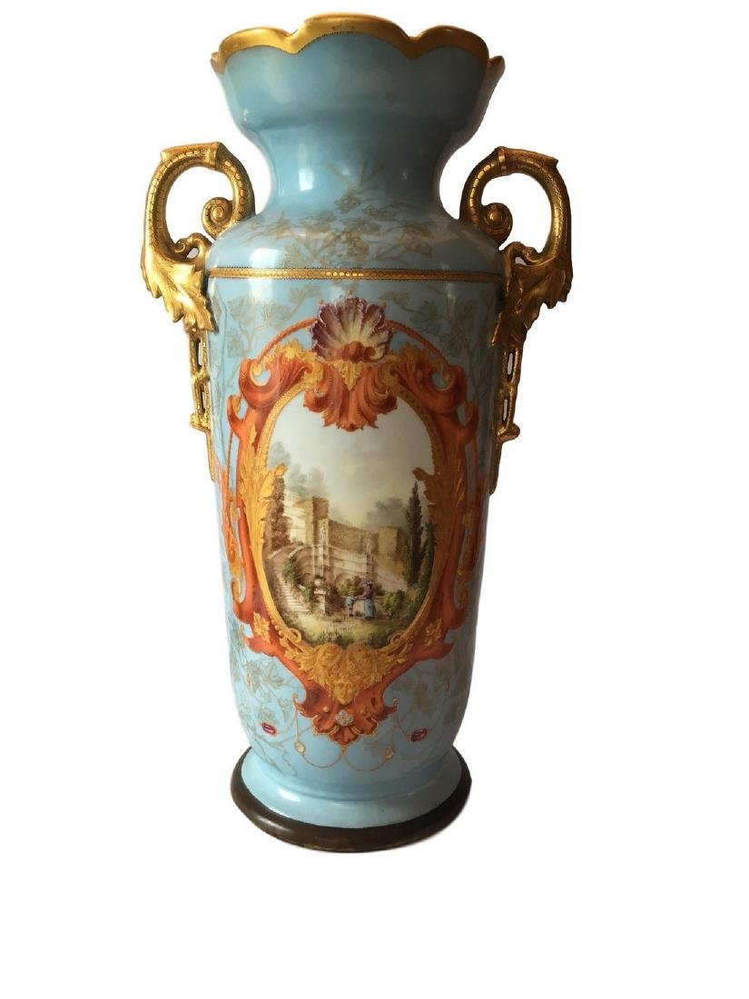 Antique Limoges Old Pair Floor Vase