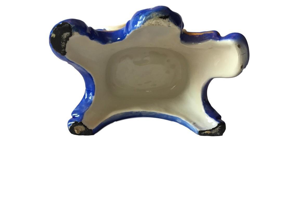 ANTIQUE Paris Porcelain Hand-Painted Figural Encrier - 3