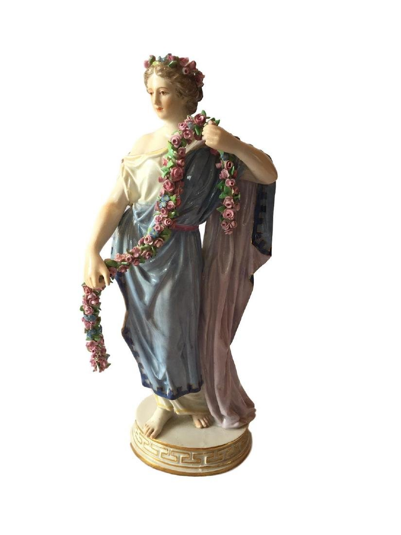 Antique Meissen porcelain figure of Flora