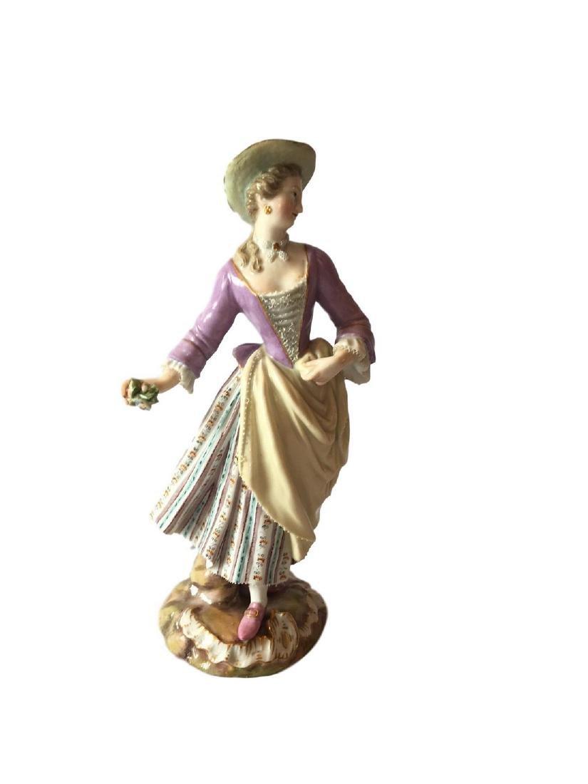 Antique Meissen porcelain figure of Flower Lady