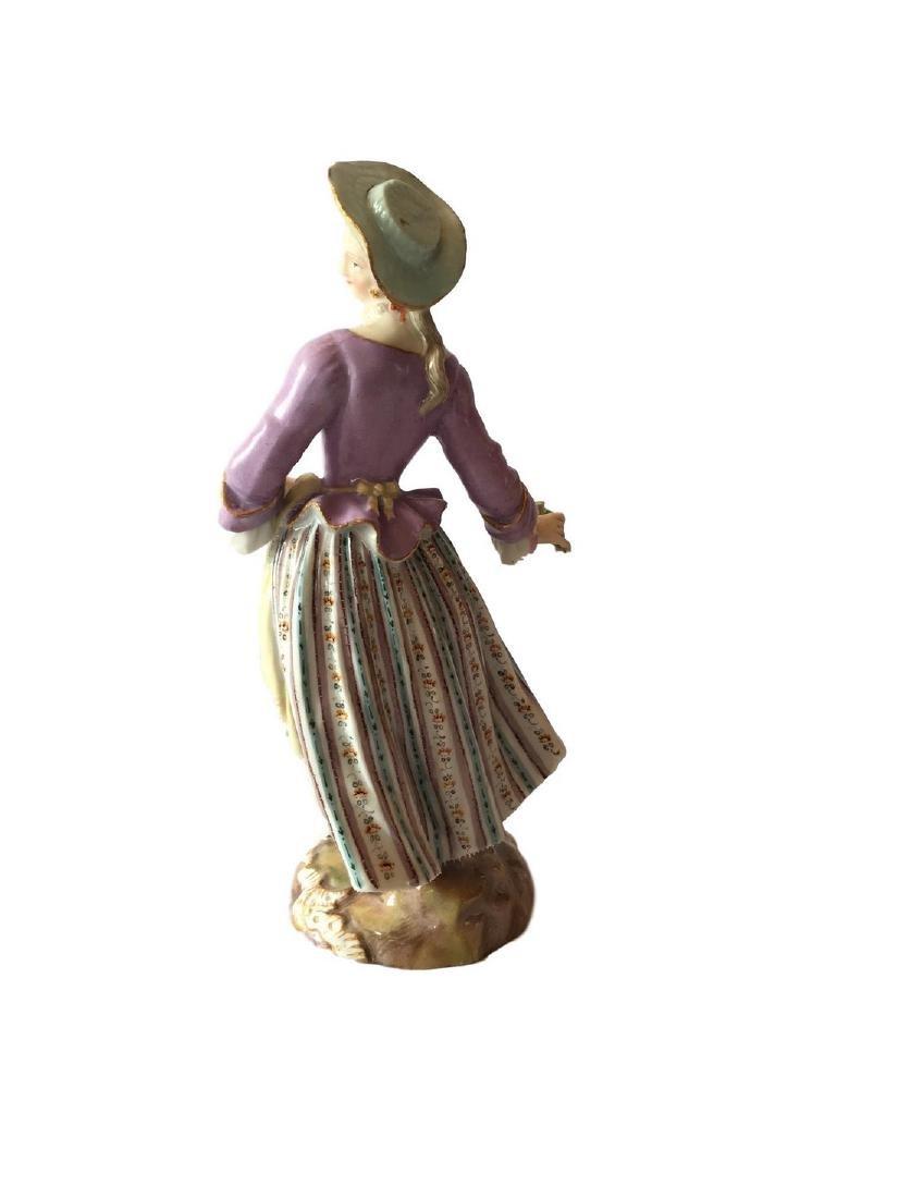Antique Meissen porcelain figure of Flower Lady - 2