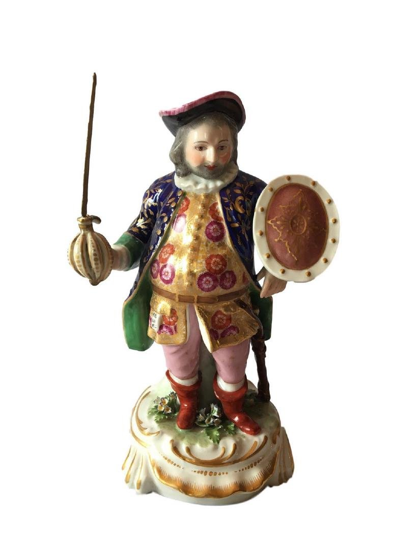 Antique Royal Derby figure of James Quinn in the role