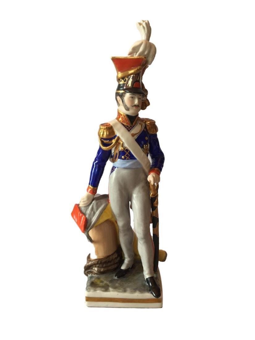 Antique Dreden Porcelain Soldier