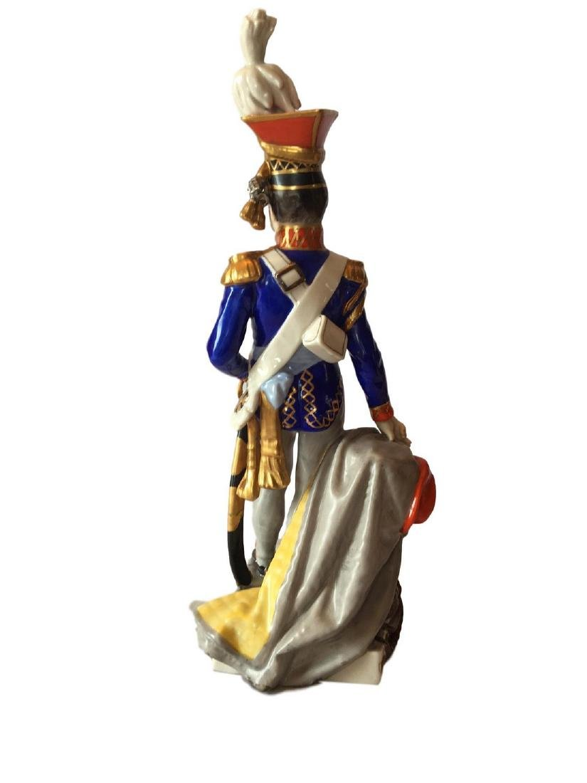 Antique Dreden Porcelain Soldier - 2