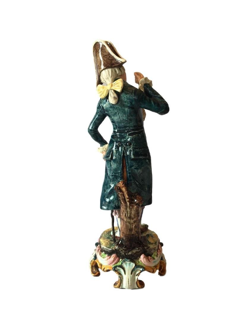 Large Antique French Majolica Figure of a Gallant - 2
