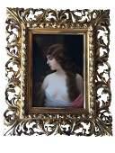 Museum Quality Antique KPM Hand Painted Plaque