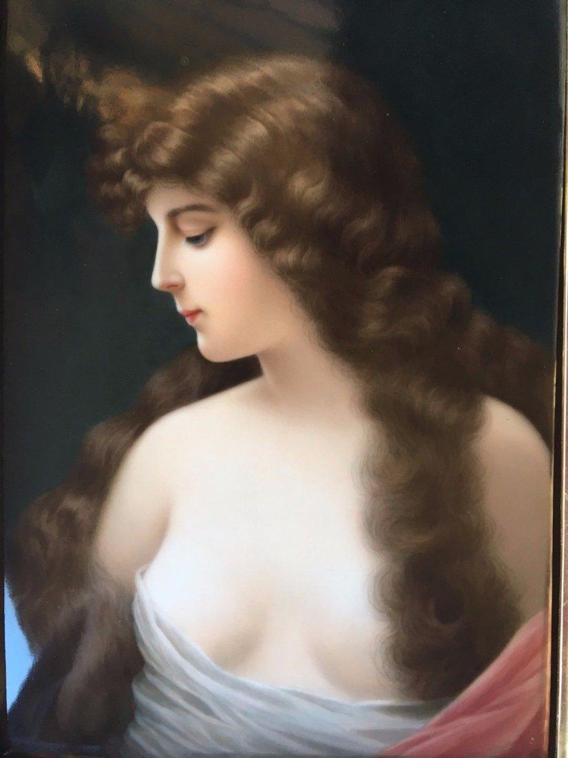 Museum Quality Antique KPM Hand Painted Plaque - 2