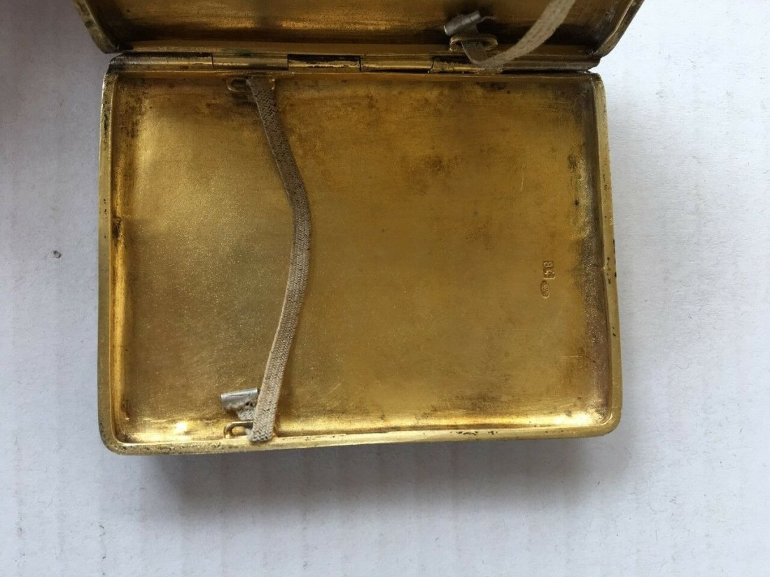Antique Russian Silver and Enamel Cigarette case - 5