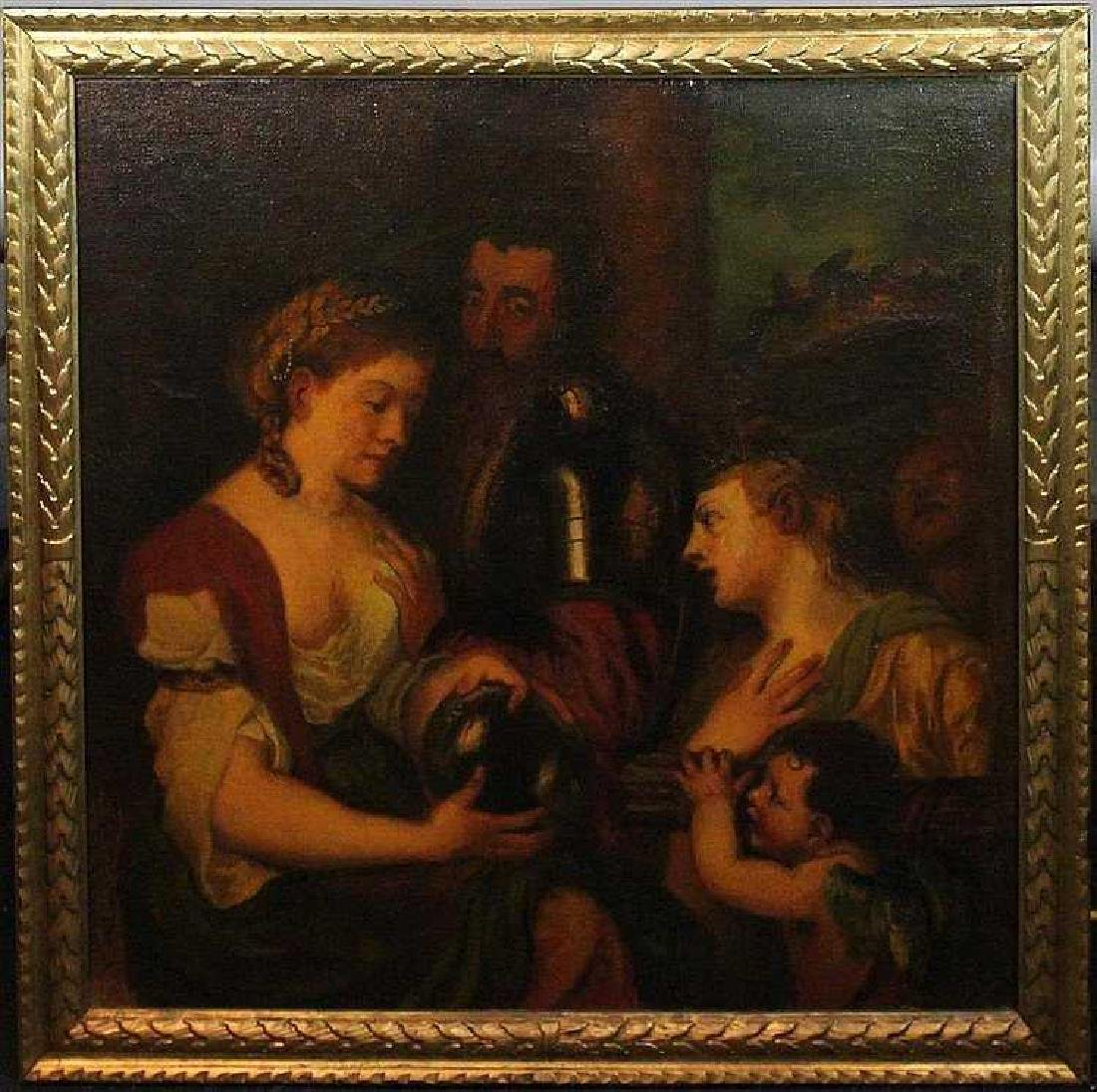 Late 19th Century Oil on Canvas AFTER TITIAN