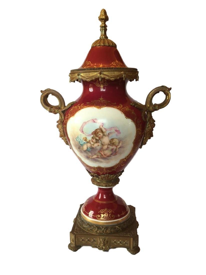 Beautiful Antique Sevres Hand Painted Porcelain Gilt