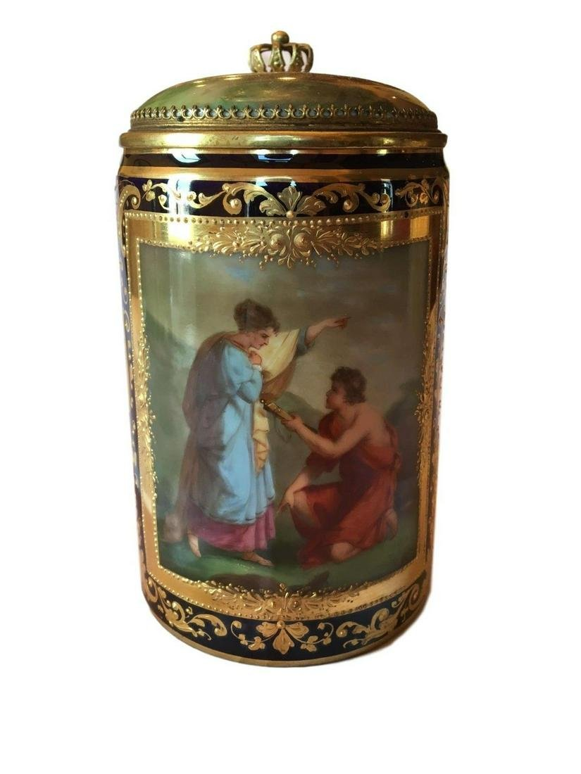 Antique Royal Vienna Porcelain Hand Painted Stein
