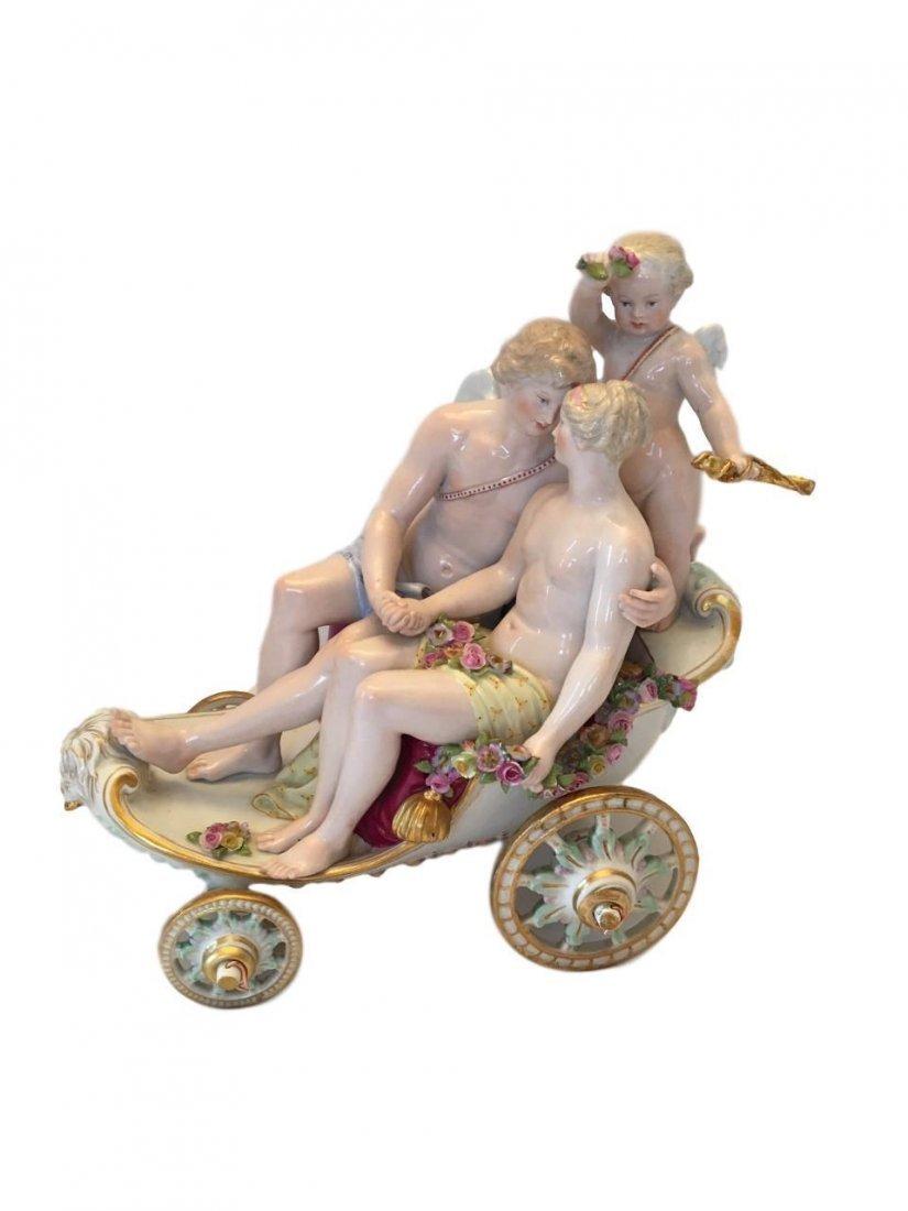Antique Meissen porcelain mythological group of Zephyr