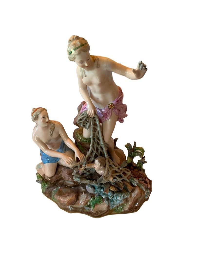Antique Meissen porcelain group of Capture of the