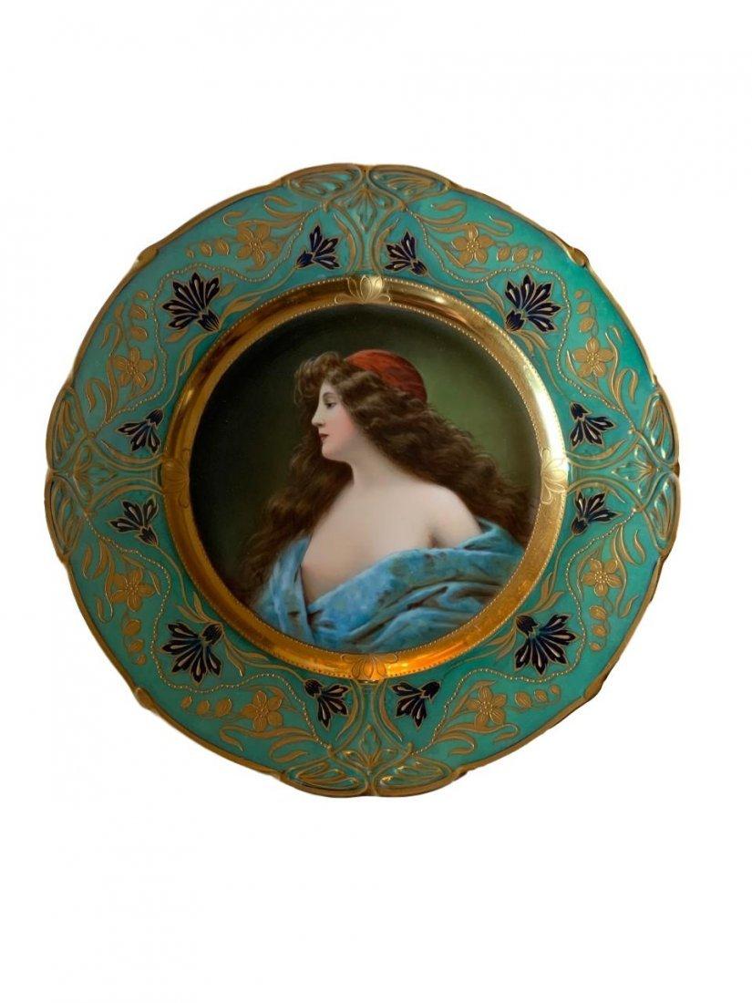 Antique Royal Vienna Porcelain Portrait Plate
