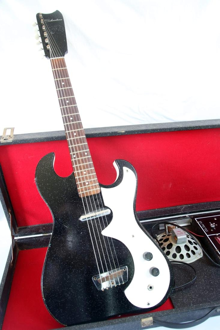 SILVERTONE GUITAR WITH AMP CASE - 3