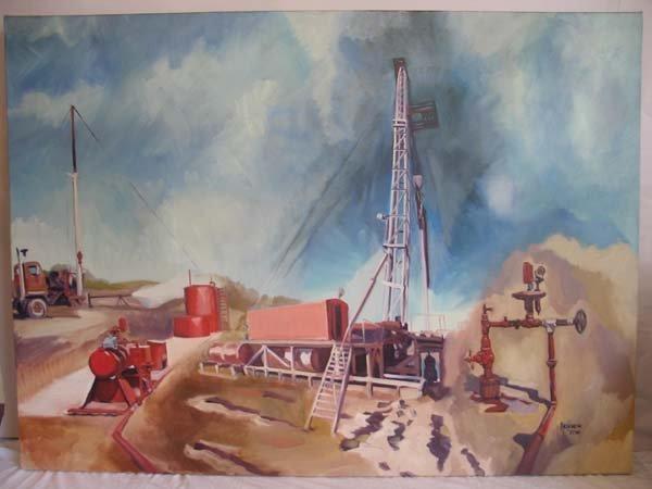 1: Arseneau '77, Oil on Canvas of Oil Rig