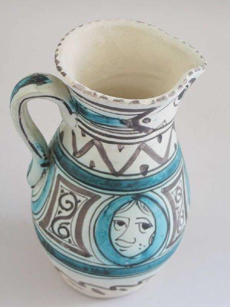 3: Ceramics Sanchis Spanish Picasso-style Pitcher
