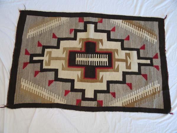 "64: Navajo Rug, early 20th C., 4'2"" x 2'9"""