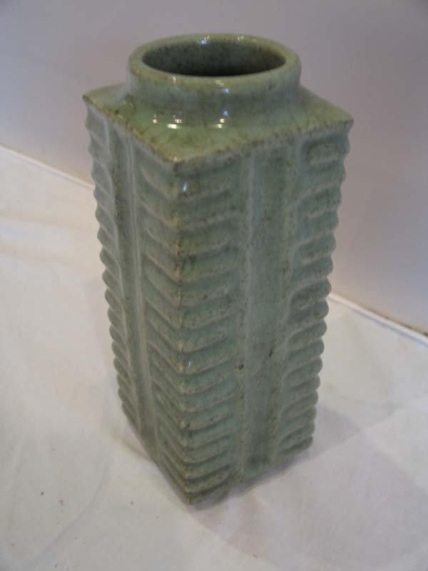 """124: Chinese Celadon Kwan Vase, 9""""h."""