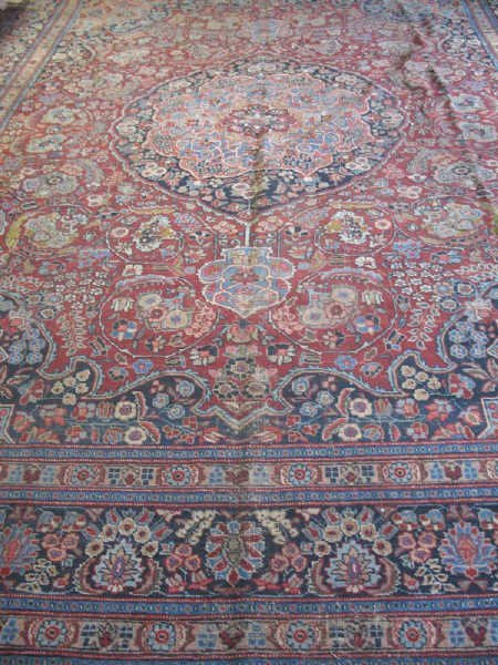 8: Antique Persian Tabriz, 14' x 10'