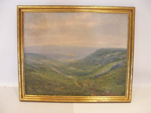 14: An Early Oil on Canvas of Mountains