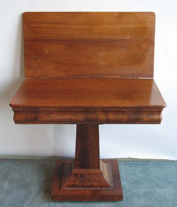 18: Mahogany Empire Folding Top Card Table