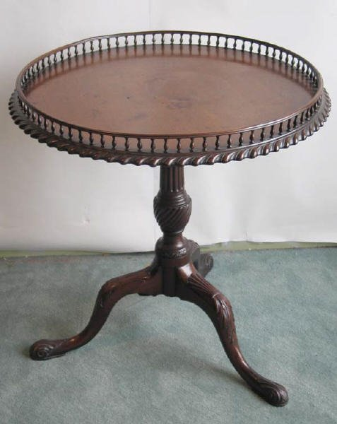 19: 19th C Mahogany Tilt-top Tea Table