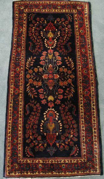 "22: A Semi-antique Kirman Rug, 2'3"" x 4'10"""