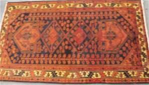 """80: Old Persian Shiraz Hamadan Rug, 7'2"""" x 4'4"""""""