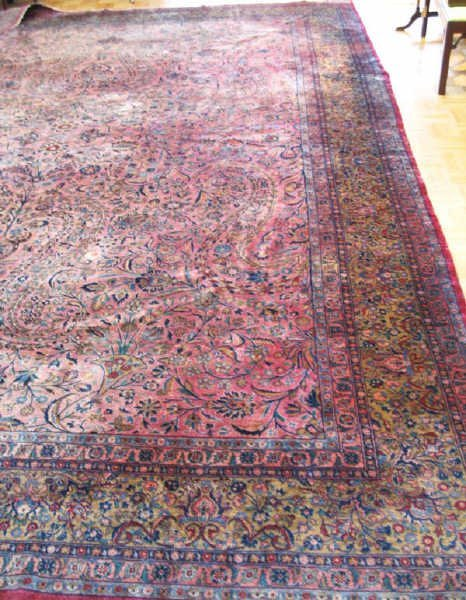 241: A Large Semi-antique Kirman Rug, 15' x 11'5""