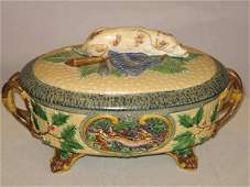 263 Minton Majolica Game Tureen