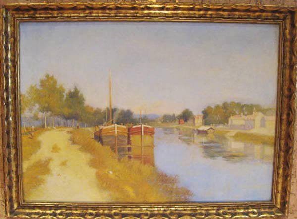 2: An Oil on Canvas of a Canal