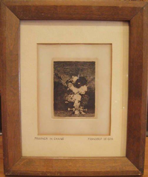 "13: A Goya Etching, ""Prisoner in Chains"""