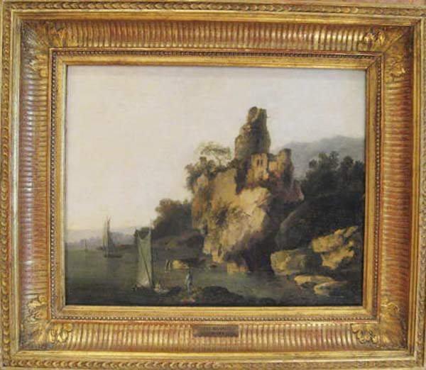 14: A Louis Bellanger Oil on Canvas