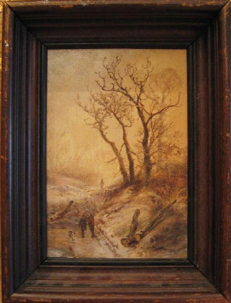 18: A Pieter Lodevik Kluyver Oil on Panel