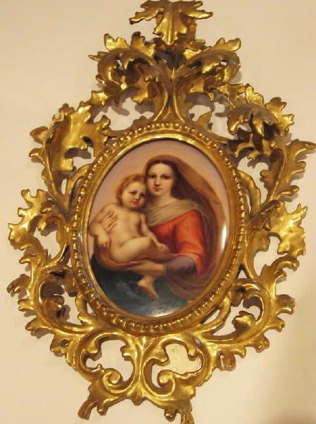 19: A 19th C Handpainted Porcelain Plaque