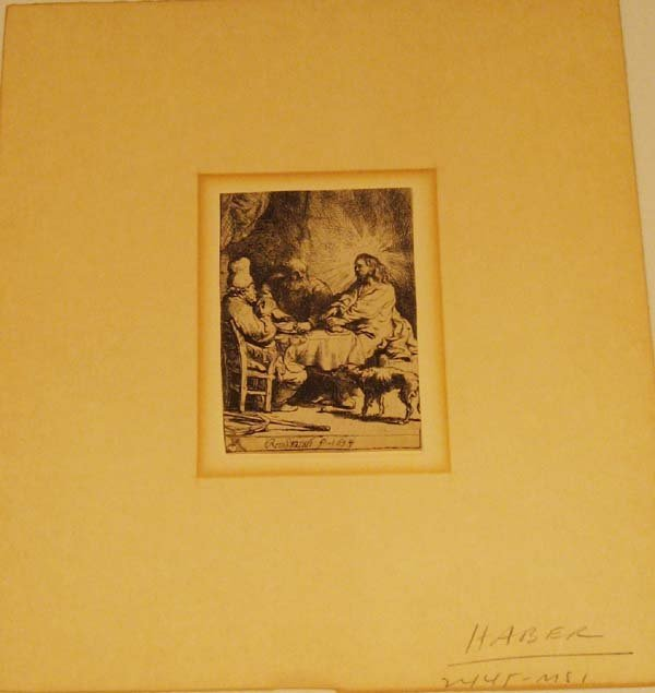 24: An Early Rembrandt Etching