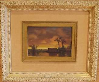 34: A Frederic Edwin Church Oil on Canvas